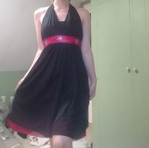 Black And Red Prom Dress